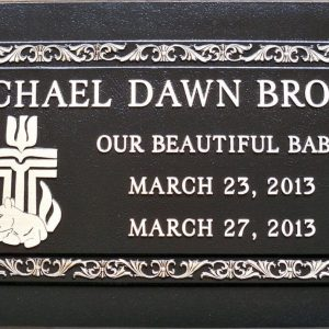 Rachel Brown Bronze Memorial Gravestone Design