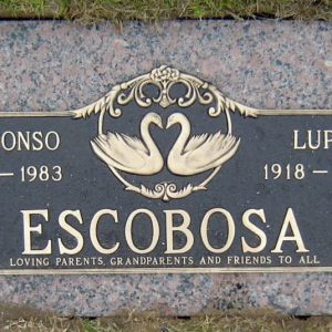 Escobosa Bronze Memorial Companion Gravestone
