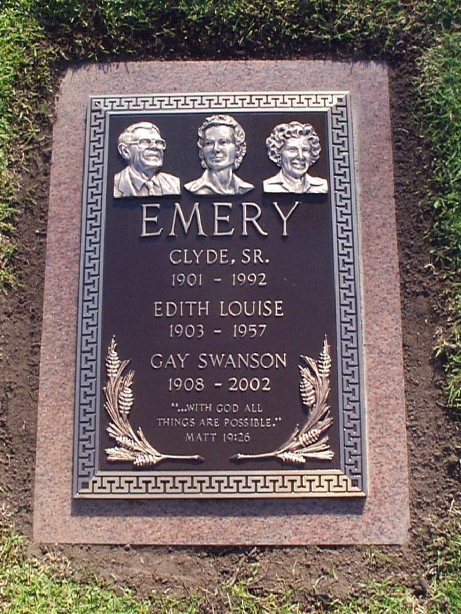 Emery Busts Bronze Memorial