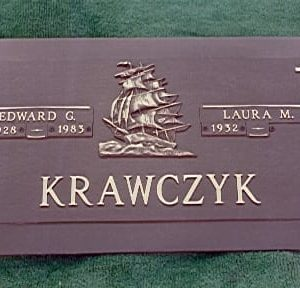 Krawczyk Ship Bronze Monument