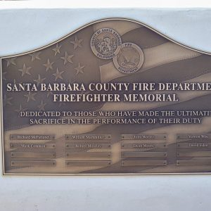 Santa Barbara Fire Department Plaque