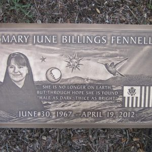 Fennel Bronze Grave Marker