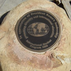 Circular Bronze Appreciation Plaque