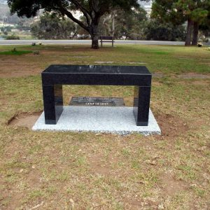 Beebe Contemporary Memorial Bench