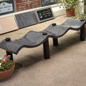 Custom Wave Bench Memorial