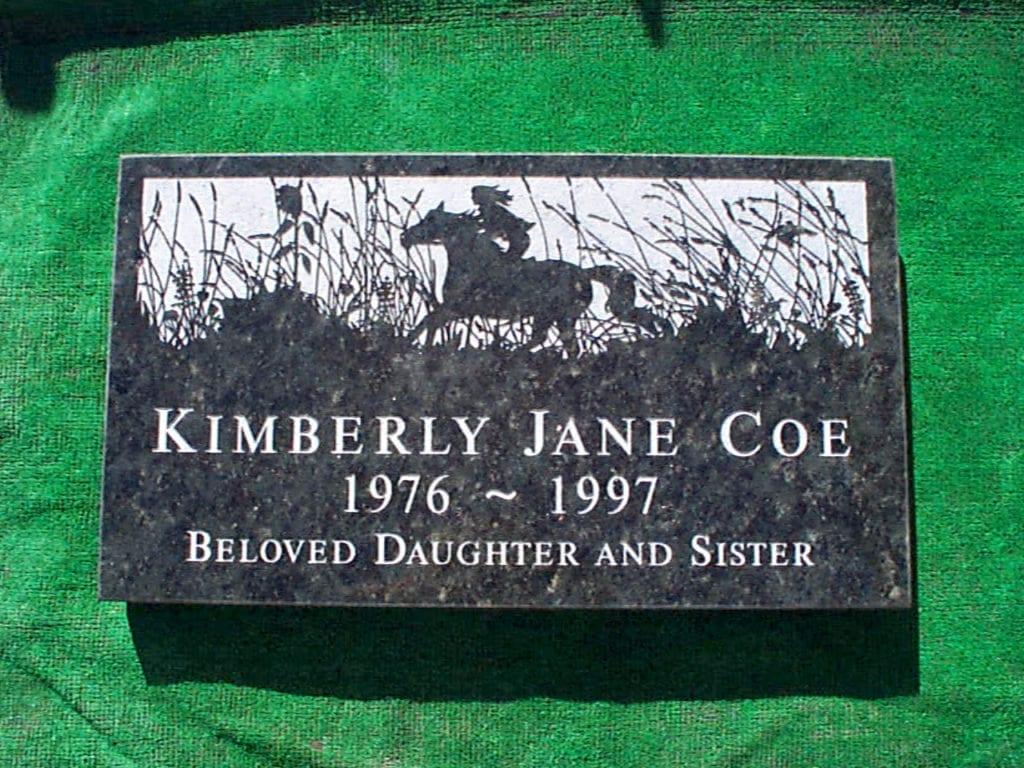 Coe Horseman Flat Grave Marker