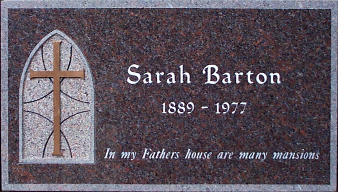 Barton Traditional Flat Memorial