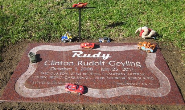 Rudy Cars Flat Grave Marker