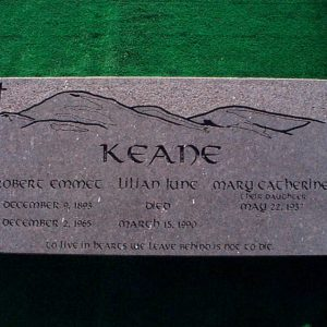 Keane Family Flat Monument