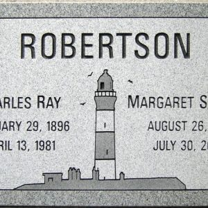 Robertson Lighthouse Flat Grave Marker