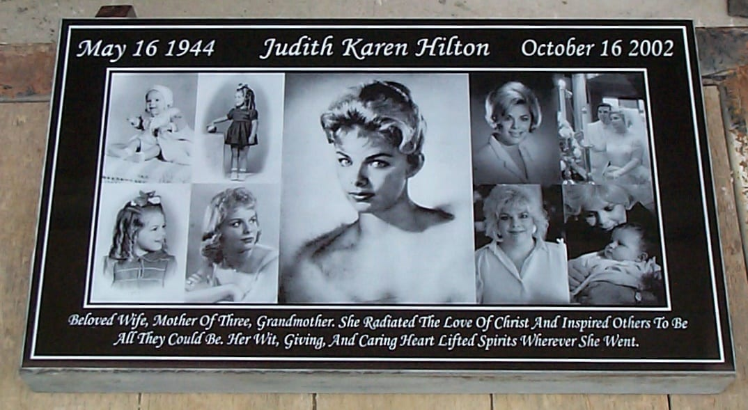 Hilton Collage Flat Headstone