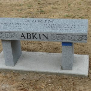 Abkin Sharp Grey Memorial Bench