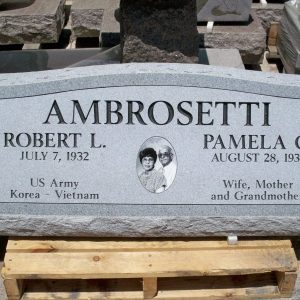 Ambrosetti Custom Slant Upright Memorial