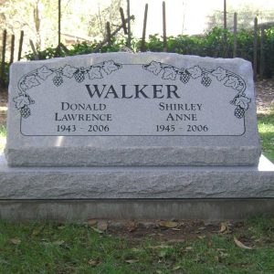 Walker Slanted Upright Gravestone