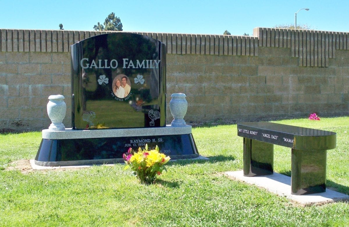 Gallo Family Estate Headstone