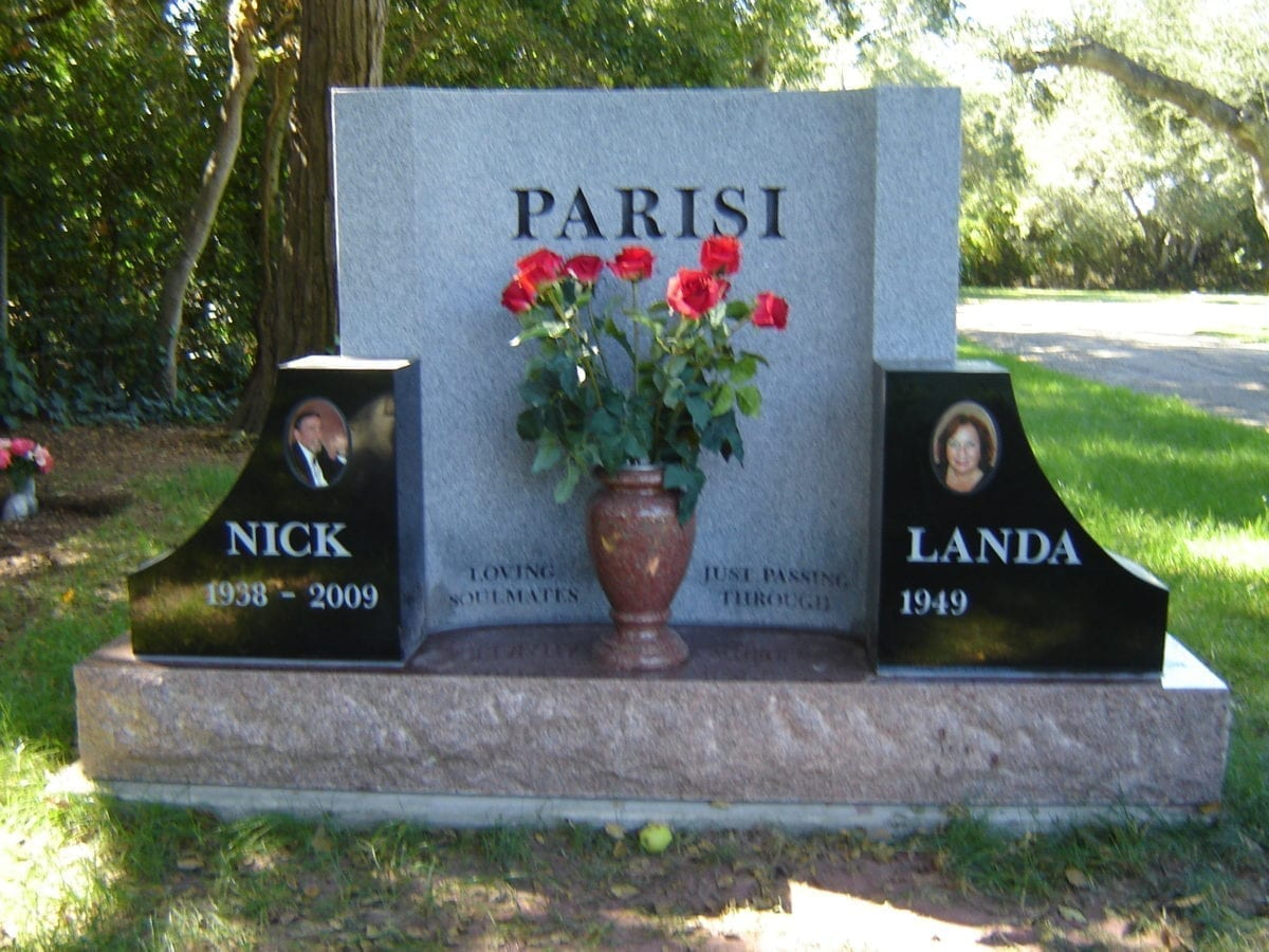 Parisi Companion Upright Gravestone - Custom Headstone