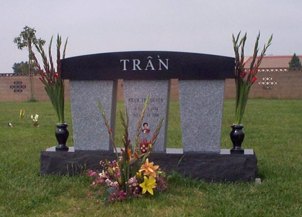 Tran Pillar Upright Memorial