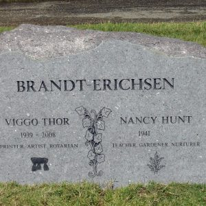Brandt-Erichson Upright Headstone