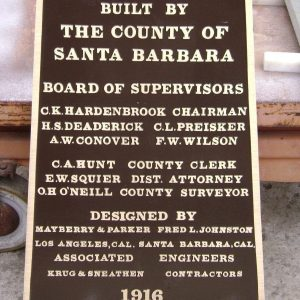 City of Santa Barbara Civic Bronze Plaque