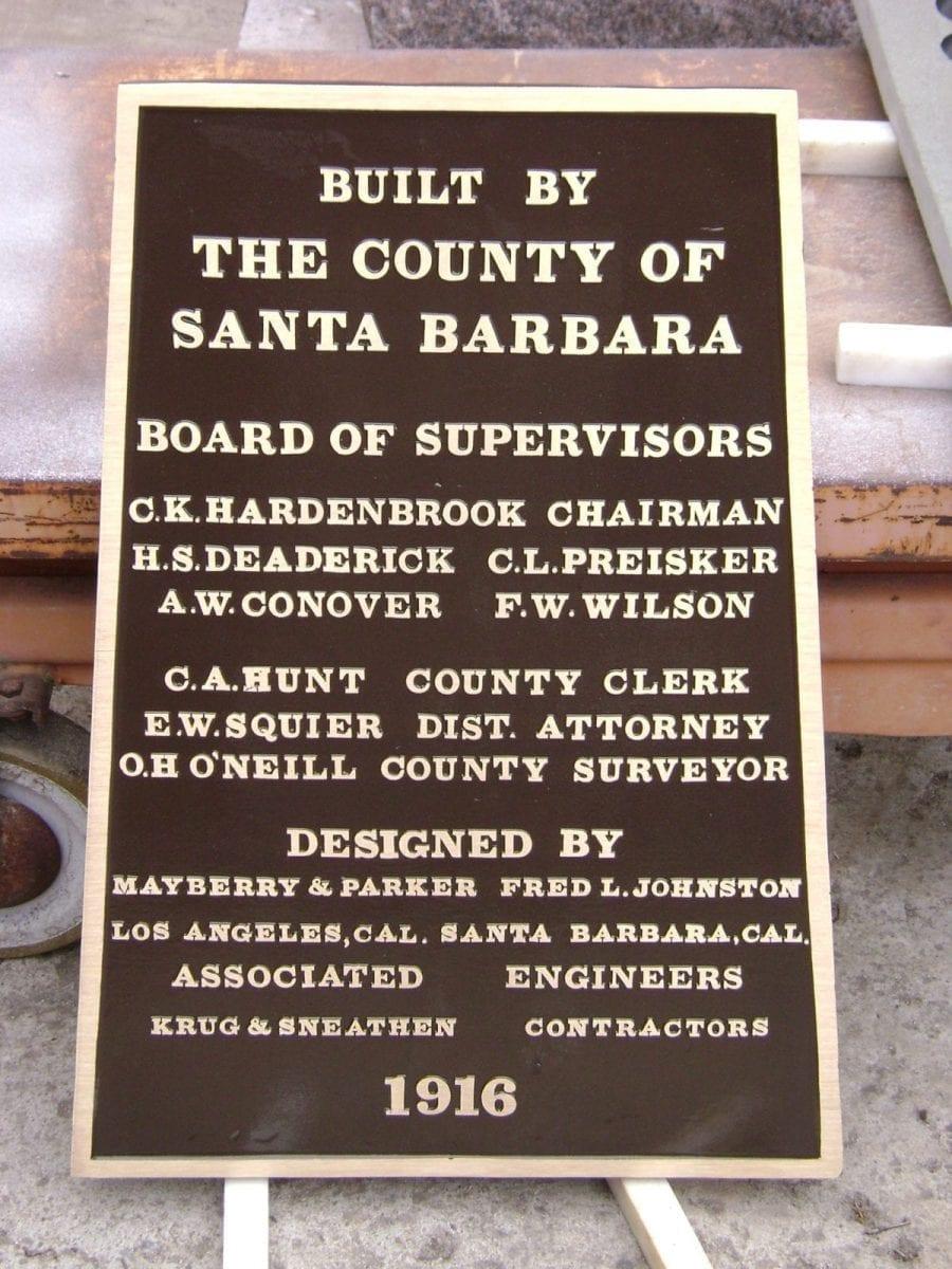 City of Santa Barbara Civic Bronze Plaque