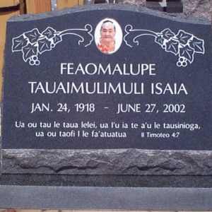 Isaia Custom Slanted Upright Memorial