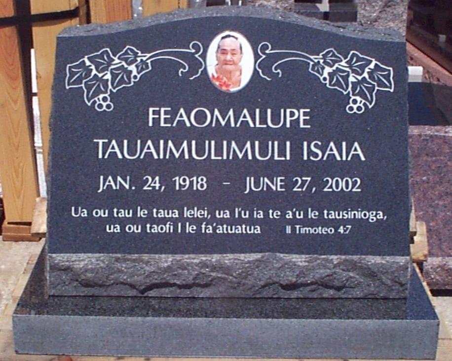 Isaia Custom Slanted Upright Memorial