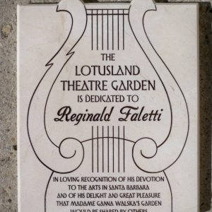 LotusLand Theatre Garden Memorial Plaque