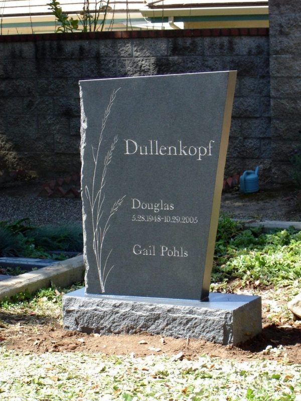 Dullenkopf Asymmetrical Upright Headstone
