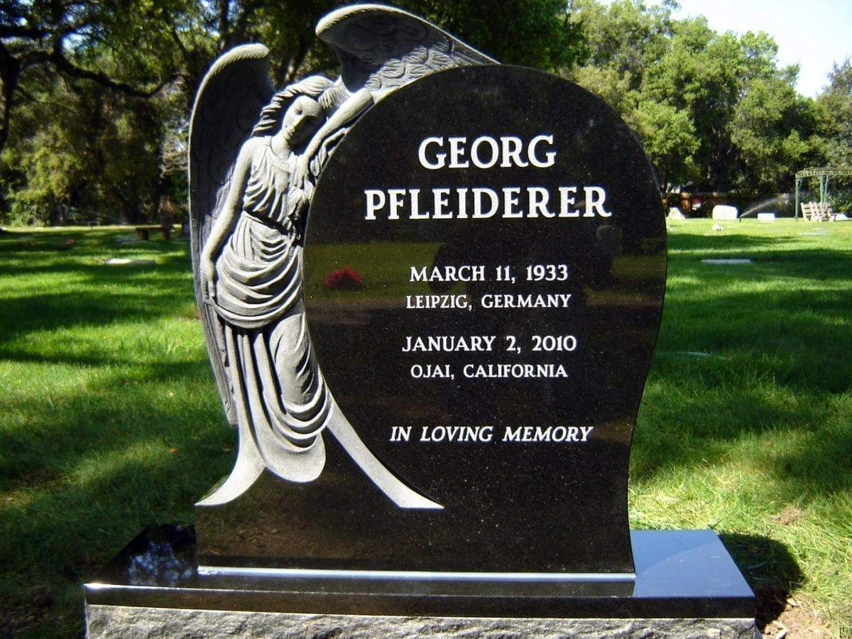 Pfleiderer Angel Custom Upright Headstone