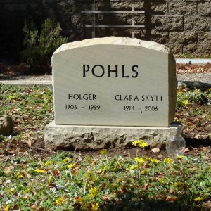 Pohls Upright Tablet Memorial